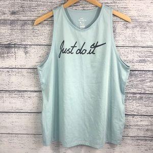 NWOT Nike Just Do It Dri-Fit Tank Top